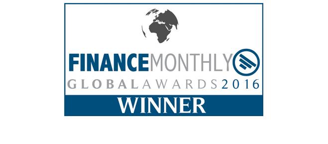Winner - finance Monthly Global Award 2016